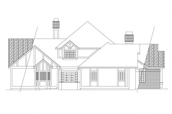 Classic House Plan - Walbrook 10-070 - Right Elevation