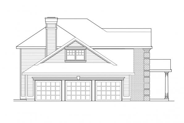 Classic House Plan - Willmar 30-048 - Right Elevation