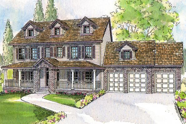 Colonial Front Elevation Designs : Colonial house plans hanson associated designs