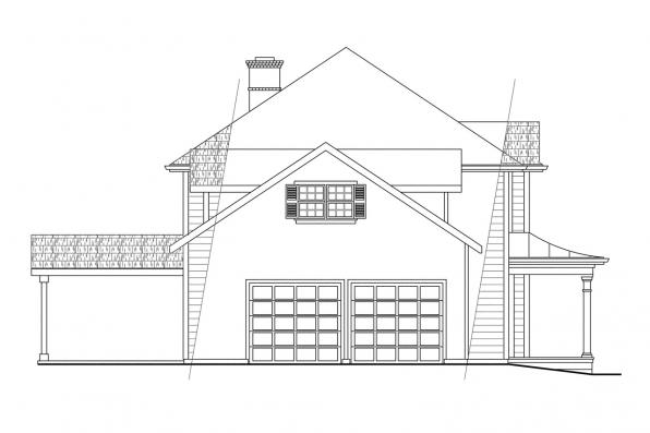 Colonial House Plan - Lorane 30-107 - Right Elevation