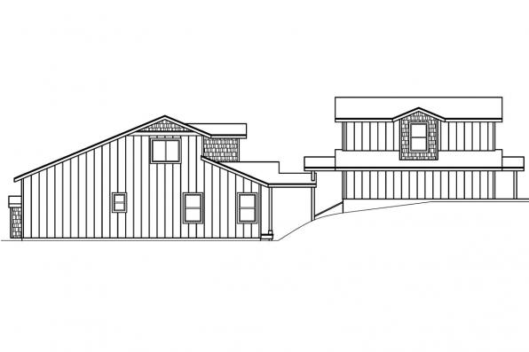 Contemporary House Plan - Roosevelt 30-603 - Right Elevation