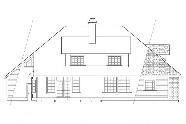 Contemporary House Plan - Berkley 10-032 - Rear Elevation