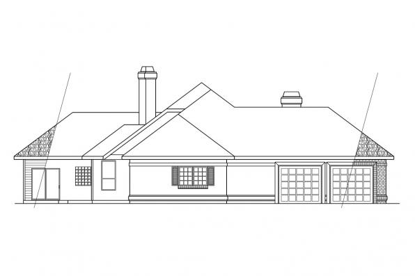 Contemporary House Plan - Brentwood 30-007 - Right Elevation