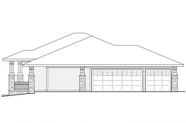 Contemporary House Plan - Edenbridge 30-626 - Left Elevation