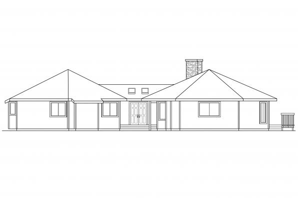 Contemporary House Plan - Encino 10-016 - Front Elevation