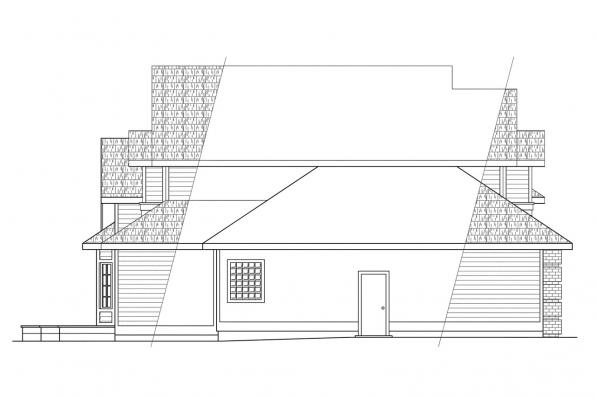 Contemporary House Plan - Geneva 10-067 - Right Elevation