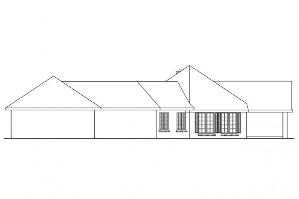 Contemporary House Plan - Hamilton 10-446 - Left Elevation