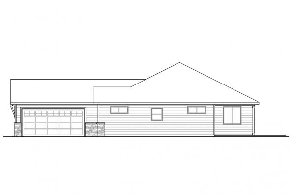 Contemporary House Plan - Holyoke 31-093 - Left Elevation