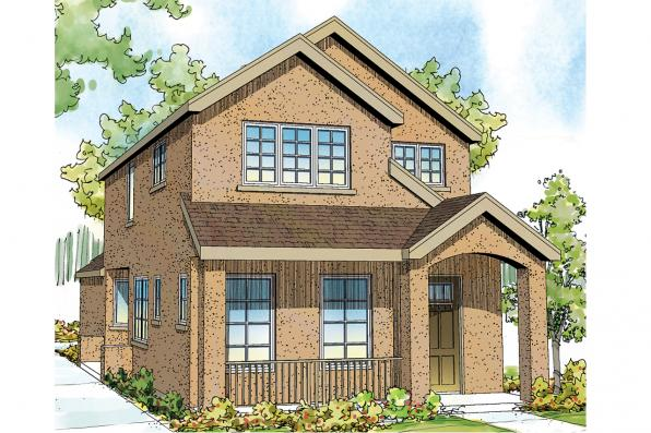 Contemporary House Plan - Montrose 30-823 - Front Elevation