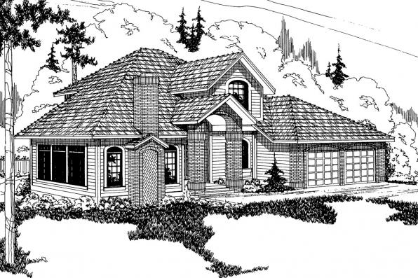 Contemporary House Plan - Parker 30-002 - Front Elevation