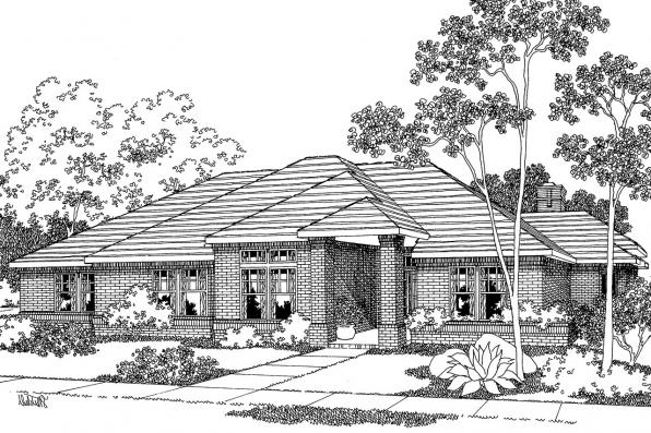 Contemporary House Plan - Rosewood 10-402 - Front Elevation