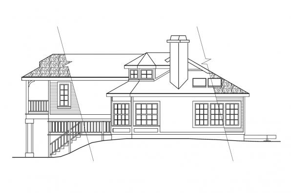 Contemporary House Plan - Trenton 30-017 - Left Elevation