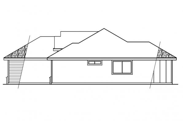 Contemporary House Plan - Tyndale 30-337 - Left Elevation