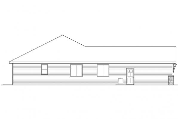 Corner Lot House Plan - Holyoke 31-093 - Right Elevation