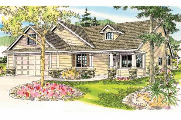 Cottage House Plan - Allenspark 30-700 - Front Elevation
