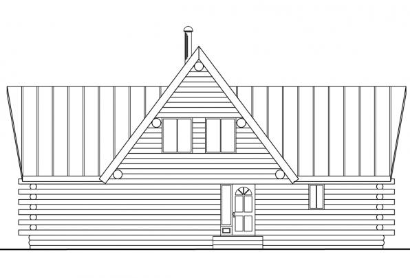 Cottage House Plan - Altamont 30-012 - Rear Elevation