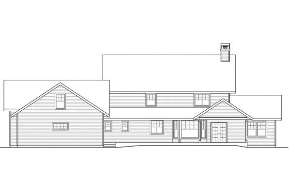 Cottage House Plan - Ambrosia 30-752 - Rear Elevation