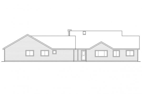 Cottage House Plan - Ardella 30-785 - Rear Elevation