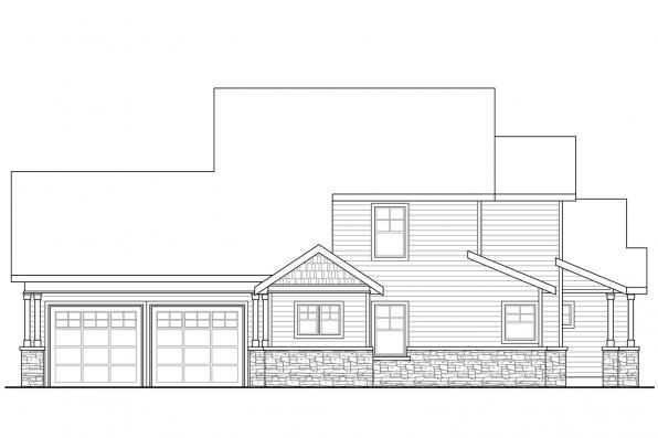 Cottage House Plan - Awbery 30-551 - Right Elevation
