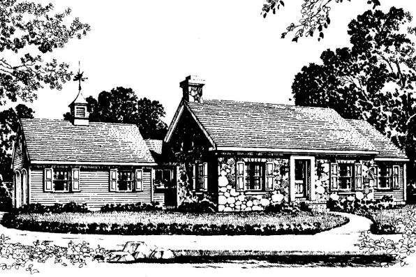 Cottage House Plan - Ayersville 42-002 - Front Elevation