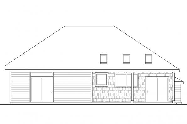 Cottage House Plan - Belmont 30-945 - Rear Elevation