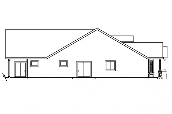Cottage House Plan - Bergstrom 30-206 - Right Elevation