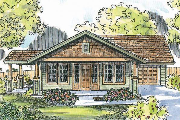 Cottage House Plan - Branell 30-485 - Front Elevation