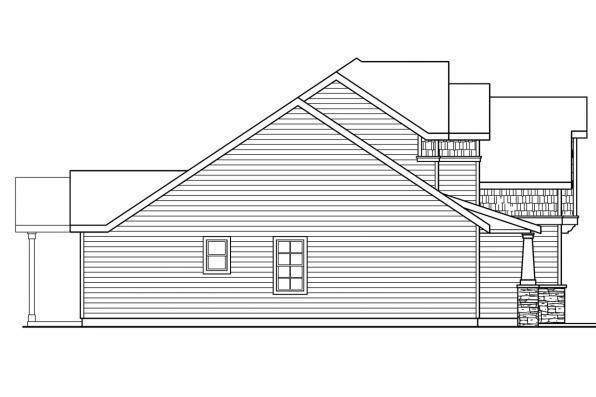 Cottage House Plan - Brookside 30-613 - Right Elevation
