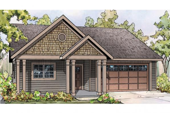 Cottage House Plan - Caspian 30-868 - Front Elevation