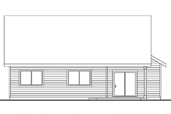 Cottage House Plan - Chatham 30-623 - Rear Elevation