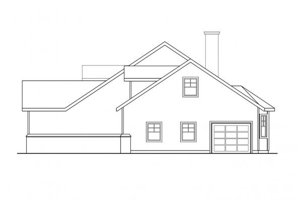 Cottage House Plan - Clearheart 10-410 - Left Elevation