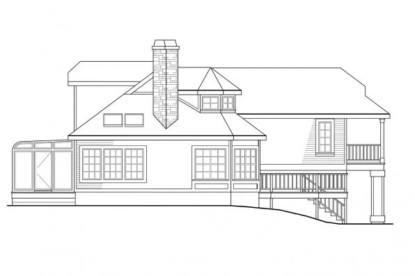 Cottage House Plan - Covington 30-131 - Right Elevation