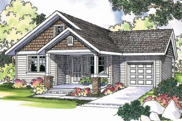 Cottage House Plan - Danville 30-284 - Front Elevation