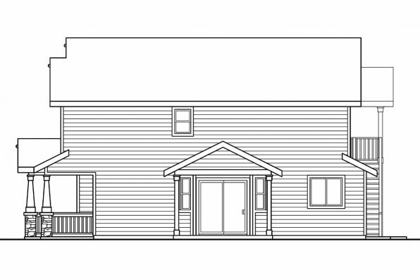 Cottage House Plan - Elmdale 30-598 - Left Elevation