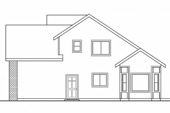 Cottage House Plan - Esterville 30-699 - Left Elevation