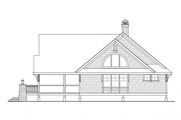 Cottage House Plan - Glen Eden 50-017 - Left Elevation