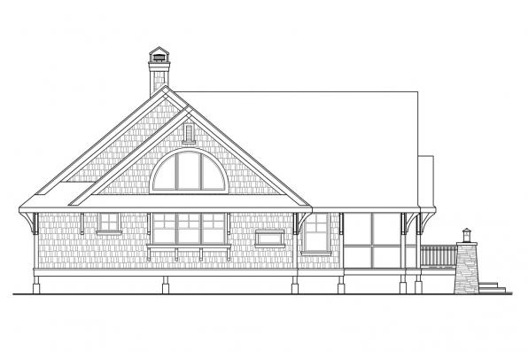 Cottage House Plan - Glen Eden 50-017 - Right Elevation