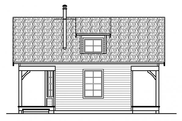 Cottage House Plan - Guest Cottage 30-727 - Left Elevation