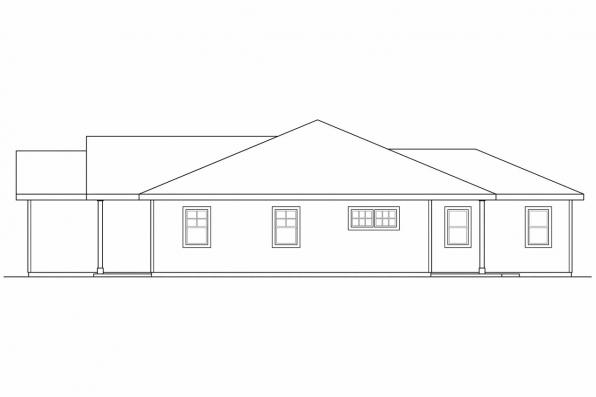 Cottage House Plan - Harlequin 30-759 - Left Elevation