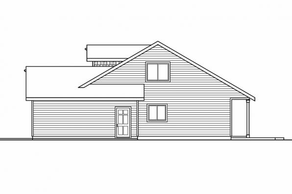 Cottage House Plan - Holshire 30-635 - Left Elevation