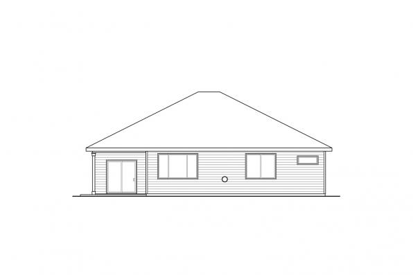 Cottage House Plan - Holyoke 31-093 - Rear Elevation