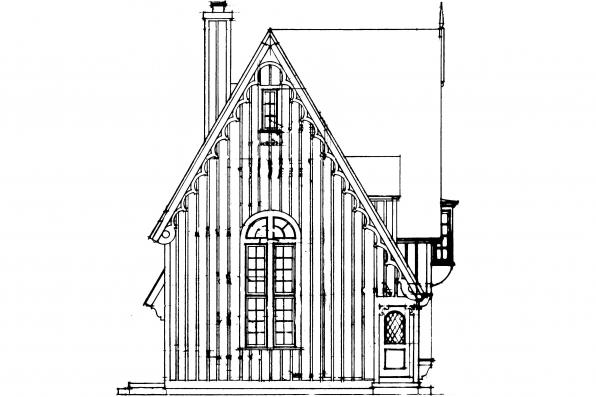 Cottage House PLan - Isabelle 42-009 - Right Elevation