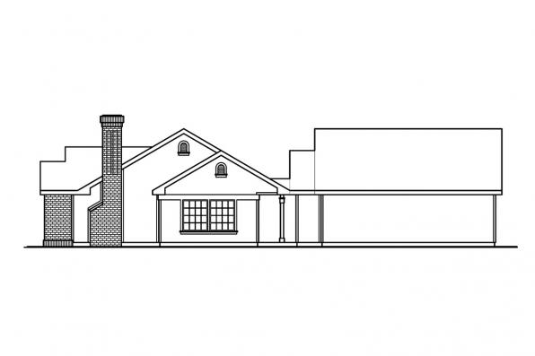 Cottage House Plan - Kingsley 30-184 - Left Elevation