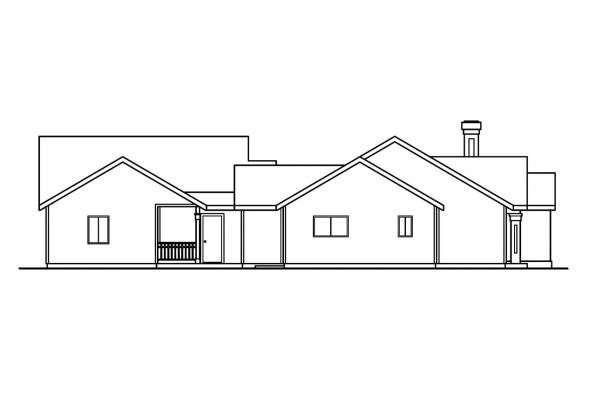 Cottage House Plan - Kingsley 30-184 - Right Elevation