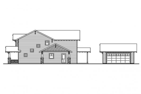 Cottage House Plan - Maplecreek 30-591 - Left Elevation
