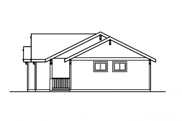 Cottage House Plan - Mattson 30-195 - Left Elevation