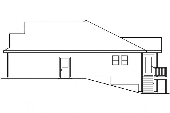 Cottage House Plan - Olmstead 30-548 - Left Elevation