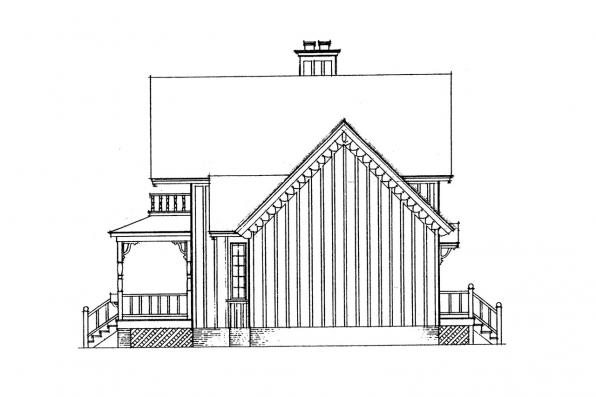 Cottage House Plan - Pearson 42-013 - Left Elevation