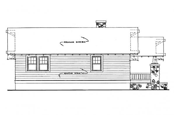 Cottage House Plan - Pinewald 41-014 - Right Elevation