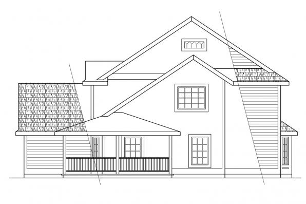 Cottage House Plan - Prescott 10-260 - Left Elevation